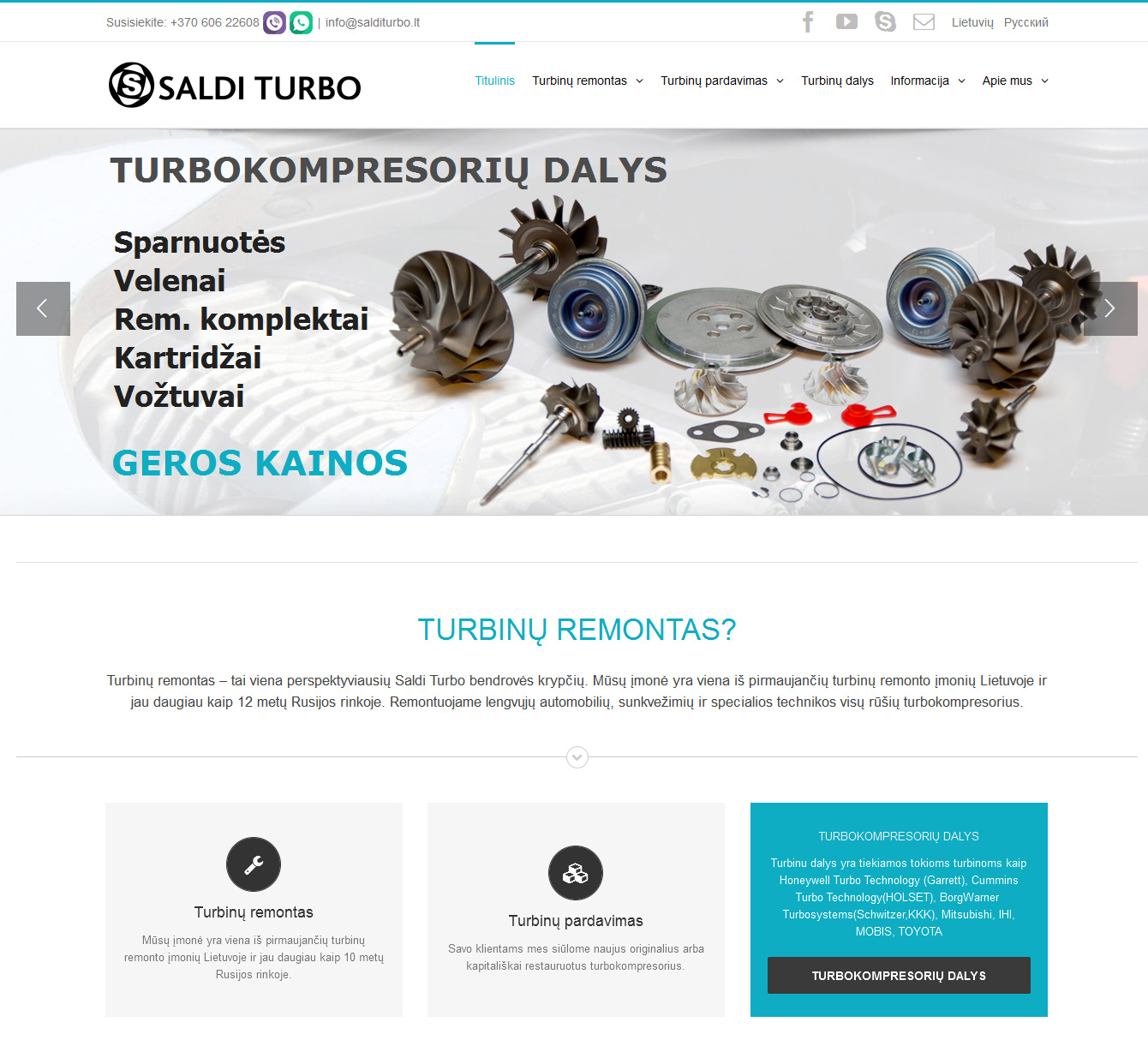 Tinklapis www.salditurbo.lt