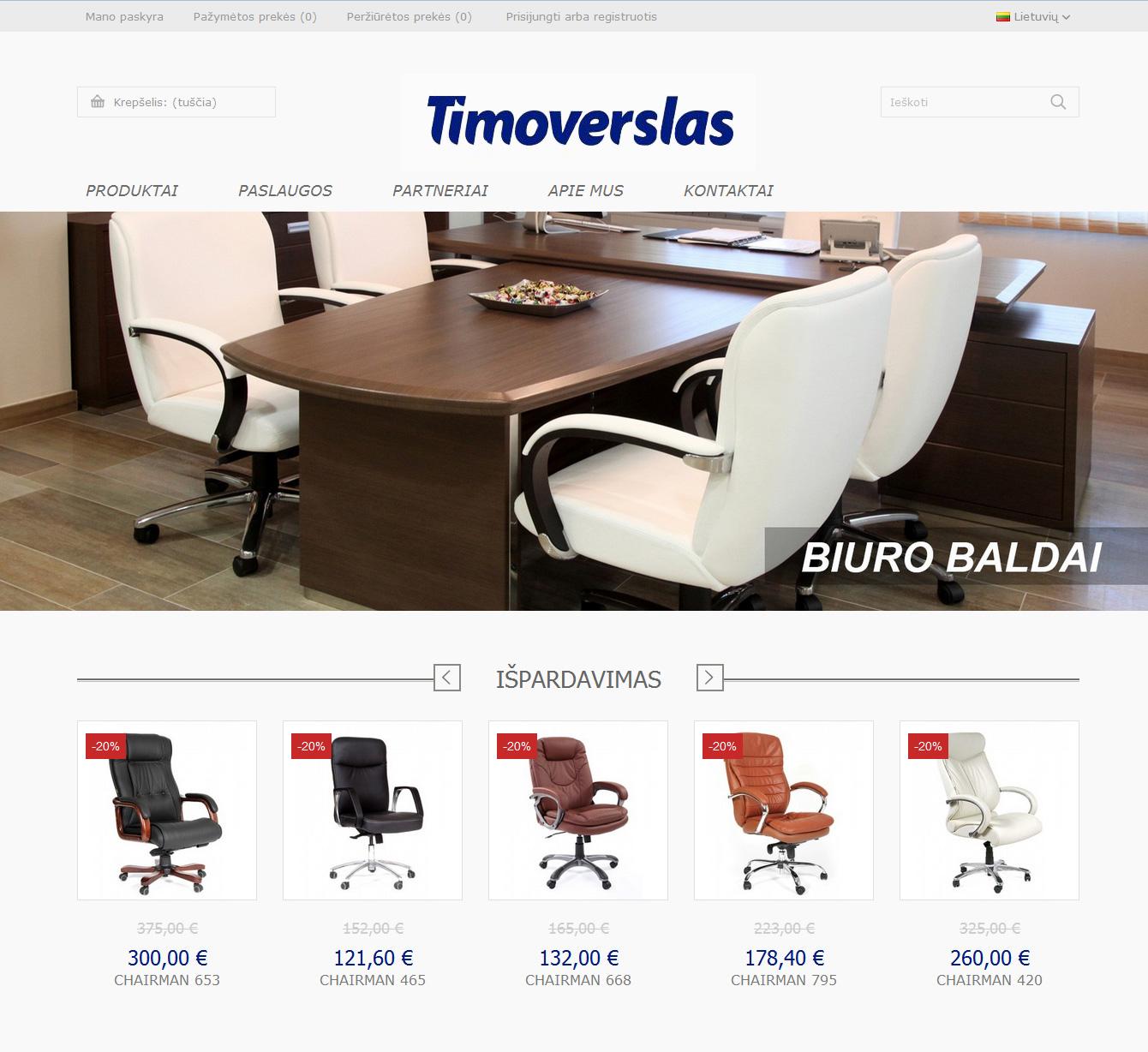 Elektroninė parduotuvė www.timoverslas.lt
