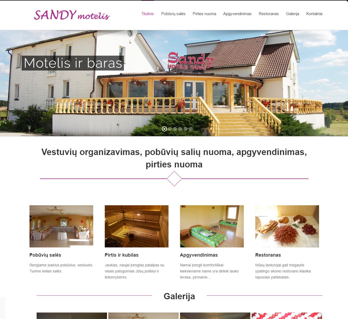 Tinklapių kūrimas www.sandy.lt